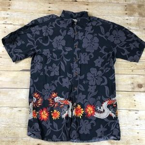 Hawaii Original Aloha Floral Dragon Casual Shirt